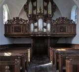 <p>Zandeweer, interieur Mariakerk en Hinsz-orgel (1731)</p>