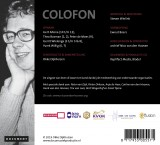 <p>colofon Bach-cd Nico van den Hooven</p>