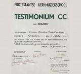 <p>Testimonium CC Protestantse Kerkmuziekschool</p>