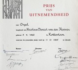 <p>Diploma Prijs van Uitnemendheid, 1965</p>